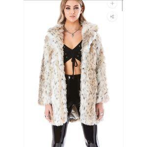 LF Snow Leopard Fur Coat